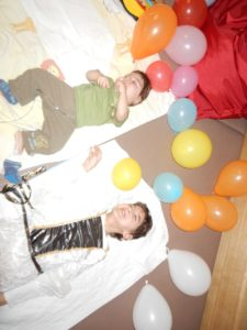 Ryan und Anna beim Faschingsfest